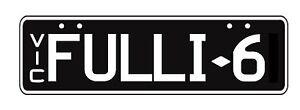 Number plate FULLI-6 Glen Iris Boroondara Area Preview