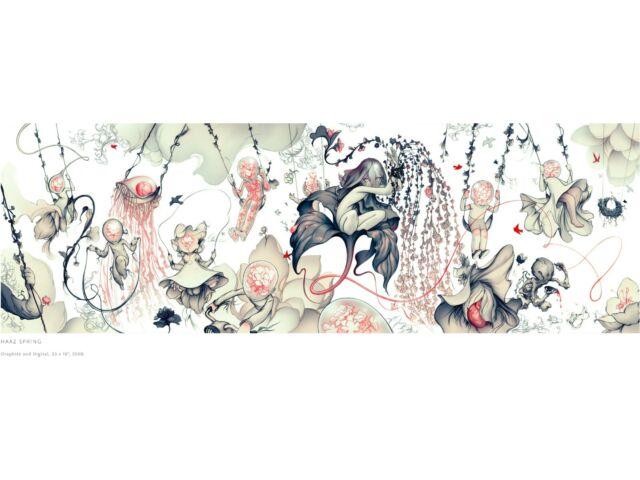 James Jean - Haaz Spring - Signed Original Print - Framed - Excellent Condition