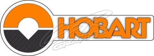 Set of 2 - Hobart Welder Custom Printed Carbon Fiber Decal Stickers