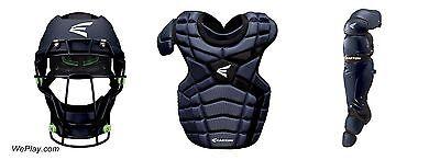 Easton Mako II Baseball Catchers Gear Set Package Intermediate Kit Navy Blue NEW