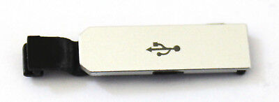 OEM UNLOCKED CATERPILLAR CAT S40 REPLACEMENT SILVER USB PORT COVER DOOR FLAP