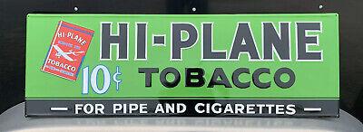 Hi-Plane Tobacco Metal Sign Vintage Style Wall Decor Cigar Pipe Tools Bar Pub