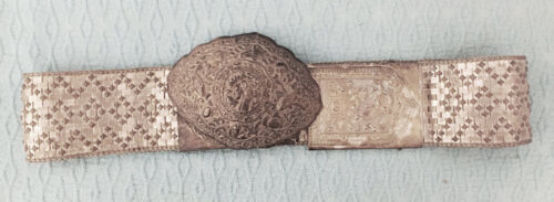 Extremely Rare - Vintage Solid Silver Wedding Belt - Dayak / Borneo   NOS