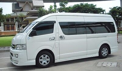 Set Bowl Handle Stainless Steel Front Windows Toyota Hiace Commuter 2005 2015