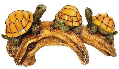 Solar-Powered Outdoor LED Light, Turtles on a Log, Moonrays 91515, New