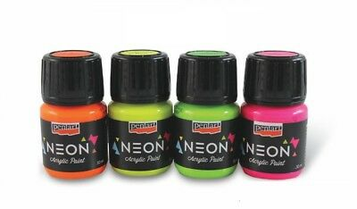Pentart Acrilic Water-based expressive and bright color Neon Paint 30 ml](Acrilic Paint)