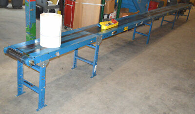 Automated Acsi 12-hp 35l 22w Power Belt Conveyor 90vdc 18w-belt 4-section