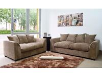 **FREE DELIVERY** BRAND NEW DYLAN JUMBO CORD FABRIC 3+2 SEATER SOFA SUITE, CORNER CRUSHED VELVET SET