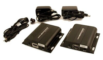 HDMI over SINGLE Cat6 Network Cable Extender Kit to 300ft w/IR Control, used for sale  Shipping to India