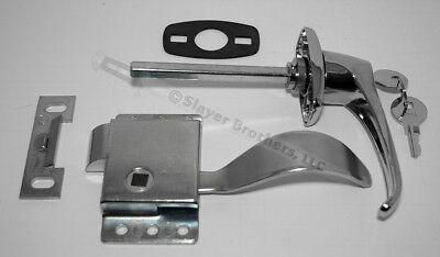 Cab Door Repair Kit Handle Lh Latch Gasket Striker Plate - Free Us Shipping