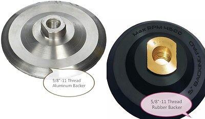 5 Rubber Aluminum Backer 58-11 Thread 15 Pack For Concrete Grinder Polisher