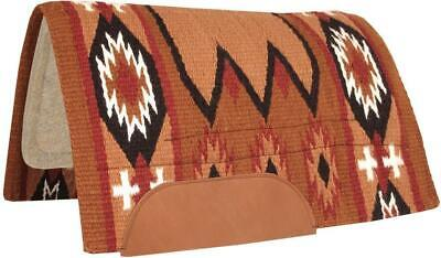 Wool Horse Show Blanket Laredo Navajo Saddle Pad 100% New Zealand Wool Top Blank Saddle Blanket Horse Show Pad