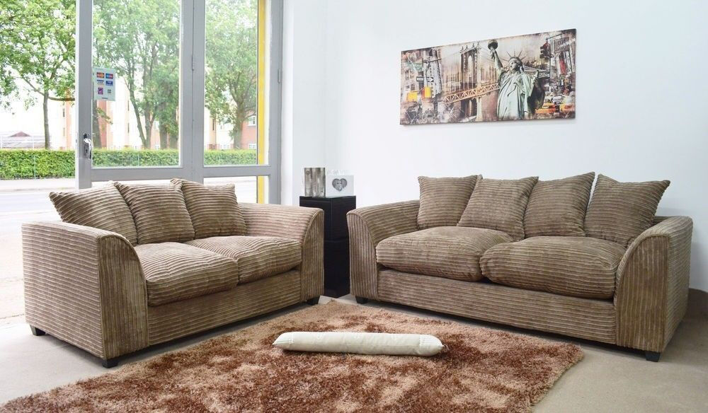 3+2 Cord Fabric Sofa *Available in Different Colours*
