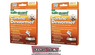 SAFEGUARD DEWORMER SMALL DOG WORMER 2 PACK 8 in 1 WORM PUPPY FENBENDAZOLE