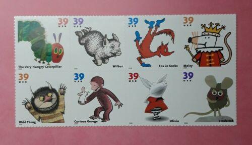 US Scott 3987-94, 2006 39c, Childrens Book Animals Block Of 8 - $5.25