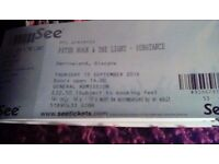 Peter Hook, Barrowland, Glasgow, 15th September (price is for 3 tickets)