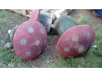 3 rubber mushroom