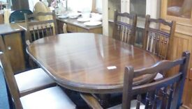 Dining table and 6 chairs #30700 £90