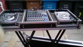 12 channel yamaha mixer with 2 cd players and large case