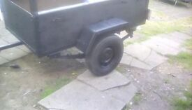 A 5,feet 3,car trailer leaf springs mini tyres rear lights 10 weels
