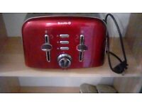 RED BREVILLE 4 SLICE TOASTER USED BUT VERY GOOD CONDITION