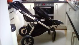 Double Baby jogger pushchair