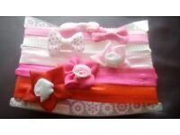Baby pink headbands.