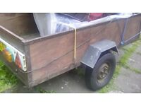 A good strong tidey car trailer 6feet x 3,feet good surspention