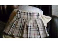 Genuine burberry skirt 4 yrs new
