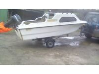 Boat 3.9 meter with out board and trailer