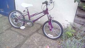 Girls bike with 6 gears - 18 inch wheels