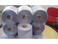 Blue centre feed 2 ply roll