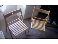 2 Brand New Fold Up Deck Chairs