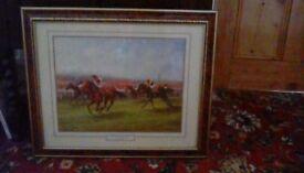 Framed print of Horse Race