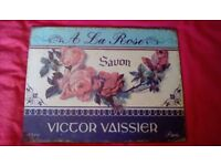 Pretty metal French soap sign