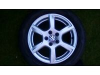 4 VW Polo alloy wheels and tyres (15 inch)
