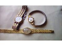 3 ladies vintage watches