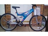 Activ Spectrum 18 speed dual suspension bike for sale Brand New