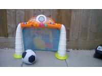 Toddler football goal and soft ball