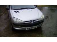 Peugeot 206 1.1 ideal first car or cheap runaround 12 month mot no advisorys new cambelt and clutch