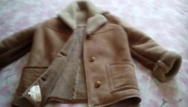 John Wood wool sheepskin jacket, Camel in colour, only worn once. Selling due to unwanted present.