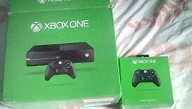 Boxed xbox one console and games or 360 and games