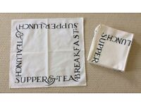 EMMA BRIDGWATER CREAM COTTON NAPKINS - EIGHT