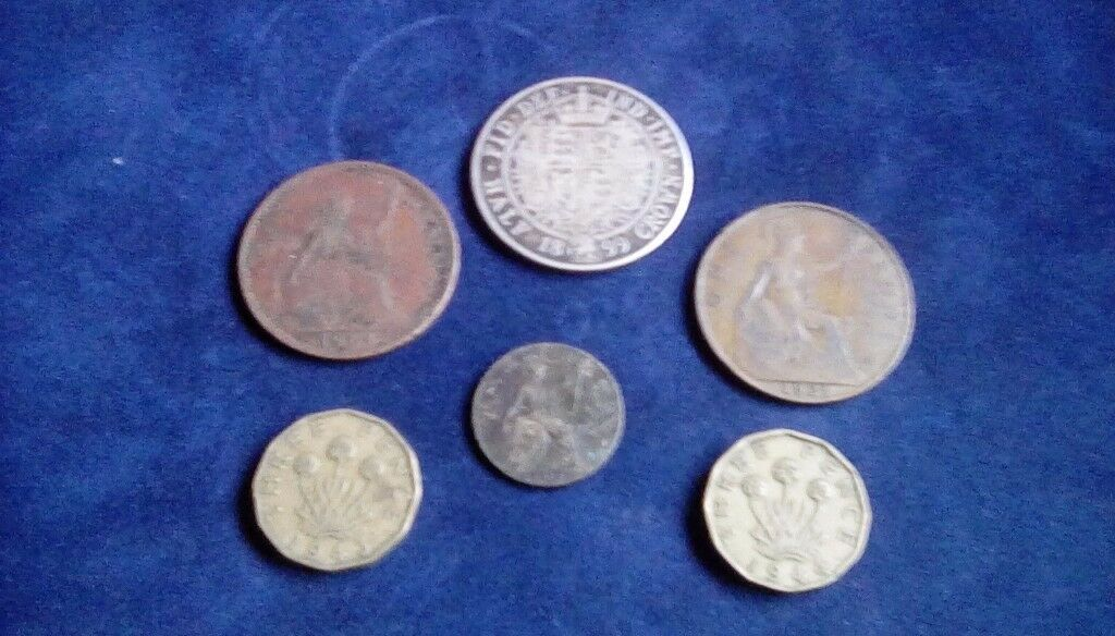 British coins for sale rangeing from 1899 to 1964