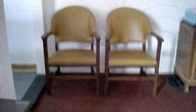 Leather leisure chairs. Around 65 years old
