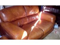 2 seater & Arm chair with f/stool FREE DELIVERY TODAY!!!!! Land of Leather..