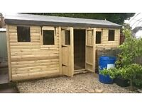 We custom make shed and summerhouses, any size made