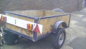 5x3 box car trailer.