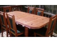 Table (extendable) and 6 chairs