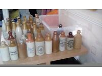 A collection of old ginger beer and mineral water bottles